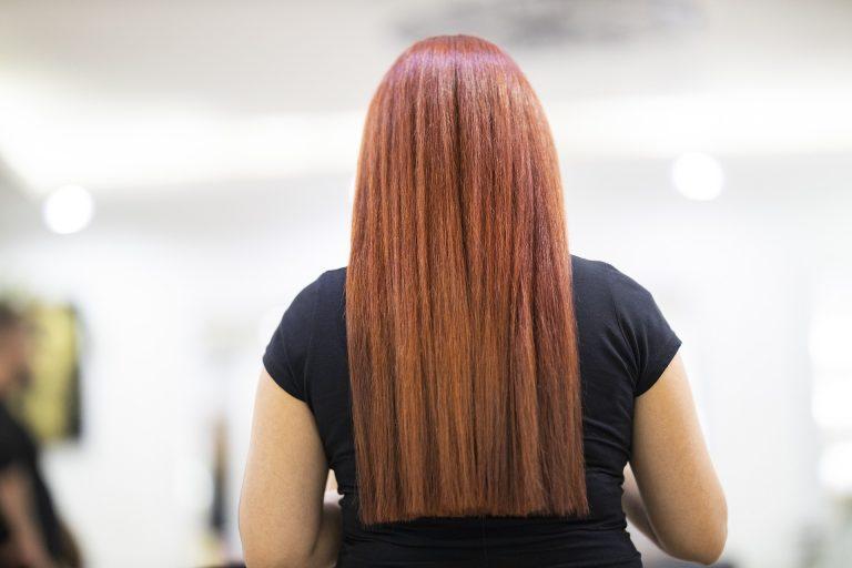 Dames kapper lang haar